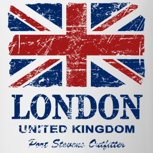 Union Jack - London - Vintage Look  Magliette - Tazza