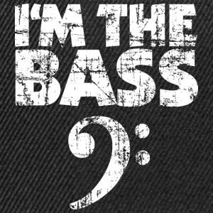 I'm the Bass Vintage White T-Shirts - Snapback Cap
