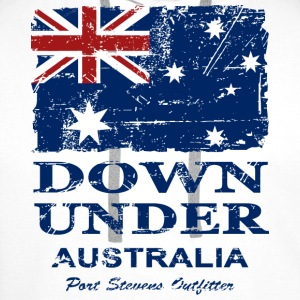 Down Under - Vintage Look  T-skjorter - Premium hettegenser for menn