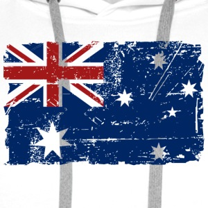 Australia - Down Under - Vintage Look  Tee shirts - Sweat-shirt à capuche Premium pour hommes