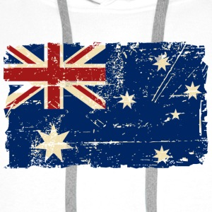 Australien - Down Under - Vintage Look  Sportsklær - Premium hettegenser for menn