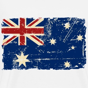 Australien - Down Under - Vintage Look  Gensere - Premium T-skjorte for menn
