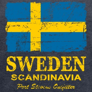 Sweden  - Vintage Look Hoodies & Sweatshirts - Women's T-shirt with rolled up sleeves