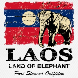 Elephant - Laos - Vintage Look  T-Shirts - Baseball Cap