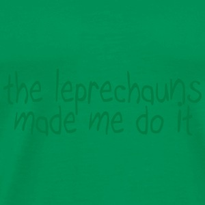 the leprechauns made me do it Bags & Backpacks - Men's Premium T-Shirt