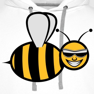 Bee funny sweet fly Sunglasses T-Shirts - Men's Premium Hoodie