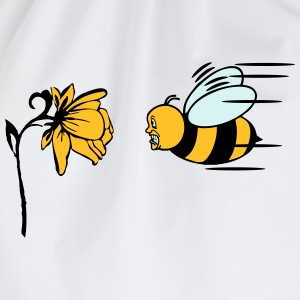 Bee fly fright funny T-Shirts - Drawstring Bag