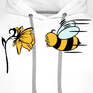 Bee fly fright funny T-Shirts - Men's Premium Hoodie