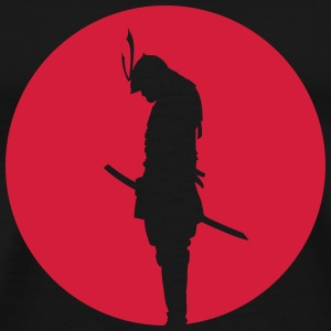 Japan Samurai Warrior - silhouette (Japan flag) Gensere - Premium T-skjorte for menn