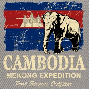 Cambodia - Elephant - Vintage Look  Tee shirts - Casquette snapback