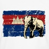 Cambodia - Elephant - Vintage Look  T-Shirts - Men's Ringer Shirt