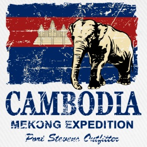 Cambodia - Elephant - Vintage Look  Tee shirts - Casquette classique