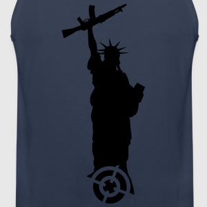 Statue of Liberty with weapon T-Shirts - Men's Premium Tank Top
