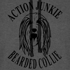 Bearded Collie Action Junkie Tasche - Unisex Baseball Hoodie