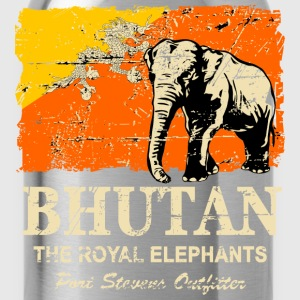Bhutan Elephant - Vintage Look Long Sleeve Shirts - Water Bottle