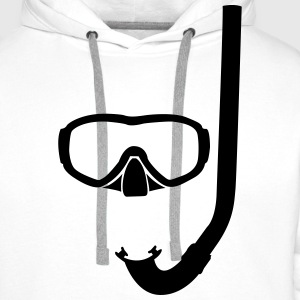 Mask and snorkel T-Shirts - Men's Premium Hoodie