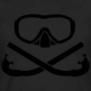 Diving mask with snorkel crossed T-Shirts - Men's Premium Longsleeve Shirt