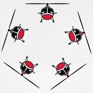 Helicopter Helicopter circular ring T-Shirts - Baseball Cap