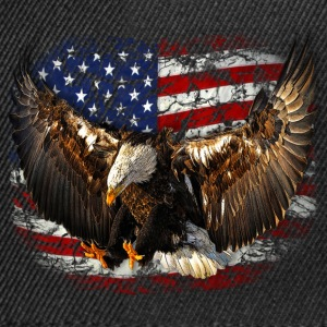 eagle USA Flag Adler freedom T-Shirts - Snapback Cap