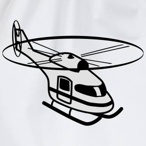 Vliegen helikopter helikopter rotor sport T-shirts - Gymtas