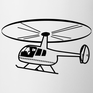 Helikopter rotor helikopter vliegen T-shirts - Mok