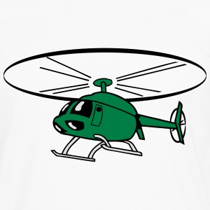 Flying Helicopter Helicopter T-Shirts - Men's Premium Longsleeve Shirt