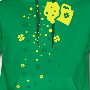 Green beer shamrocks Women's Premium T-Shirt - Men's Premium Hoodie