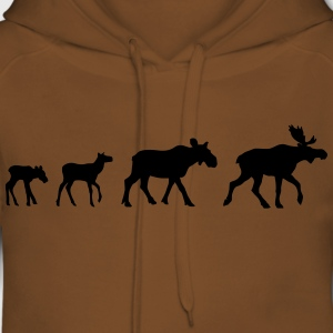 Moose Family T-Shirts - Women's Premium Hoodie