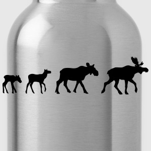 Moose Family T-Shirts - Water Bottle