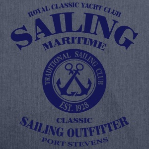 Maritime Sailing T-Shirts - Schultertasche aus Recycling-Material