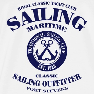 Maritime Sailing Tops - Men's Premium T-Shirt