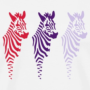Zebra Trio - Men's Premium T-Shirt