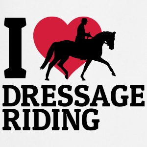 I love dressage riding j'adore le cheval de dressage Tee shirts - Tablier de cuisine