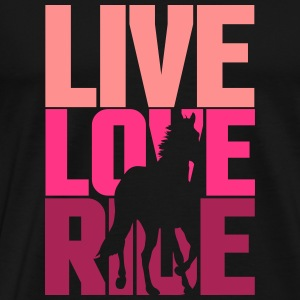Live, Love, Ride  Gensere - Premium T-skjorte for menn