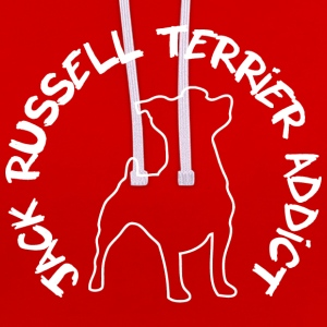 T-shirt Jack Russell Addict - Sweat-shirt contraste
