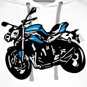 Naked bike moto Street Fighter Tee shirts - Sweat-shirt à capuche Premium pour hommes