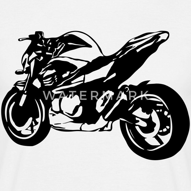 motorcycle Naked Bike T-Shirts - Men's T-Shirt