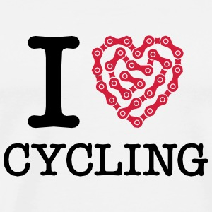 I Love Cycling Tank Tops - Men's Premium T-Shirt
