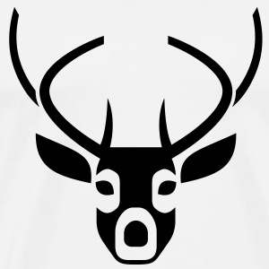 Head and antlers of a deer Polo Shirts - Men's Premium T-Shirt