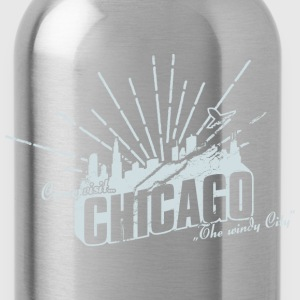 Come visit Chicago T-Shirts - Trinkflasche