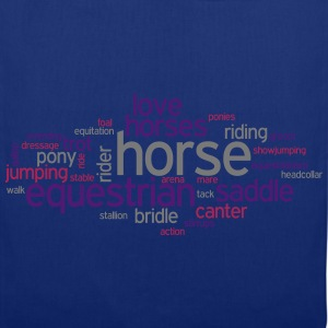 Horse Word Cloud T-Shirts - Tote Bag