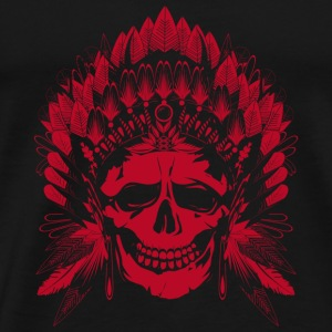 Chief Skull red motif Hoodies - Men's Premium T-Shirt