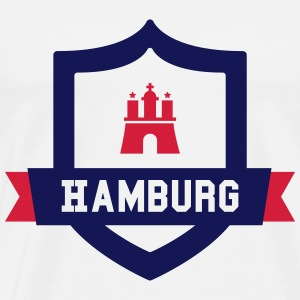 Hamburg College badge Hoodies - Men's Premium T-Shirt