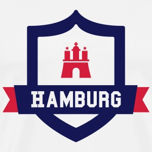 Hamburg College badge Long Sleeve Shirts - Men's Premium T-Shirt
