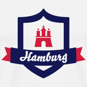 Hamburg Logo Sports wear - Men's Premium T-Shirt