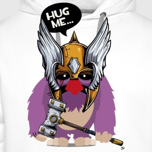 Cuddly monster with Thor's hammer as a Viking T-Shirts - Men's Premium Hoodie