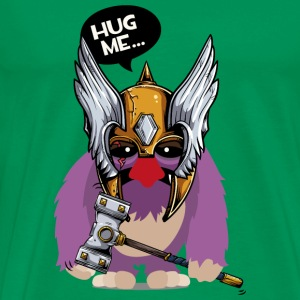 Cuddly monster with Thor's hammer as a Viking Bags & Backpacks - Men's Premium T-Shirt
