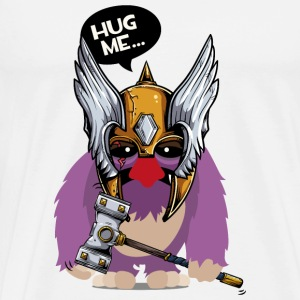 Cuddly monster with Thor's hammer as a Viking Mugs & Drinkware - Men's Premium T-Shirt