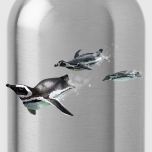 Graphite grey Three penguins T-Shirts - Water Bottle