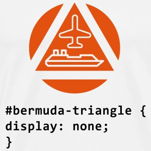 CSS ordspill: The Bermuda Triangle Singlets - Premium T-skjorte for menn